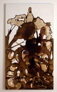 Kaffee auf Leinwand 90x170cm