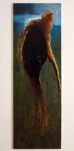Kaffee und Acryl auf Leinwand 50x170cm